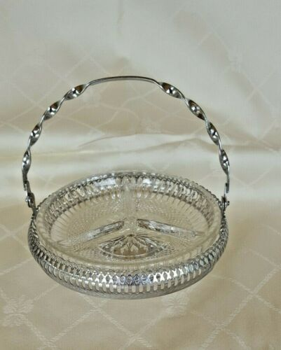 Vintage Mayell Hors D'Oeuvres Round  Serving Dish with handle - Queen Anne VGC