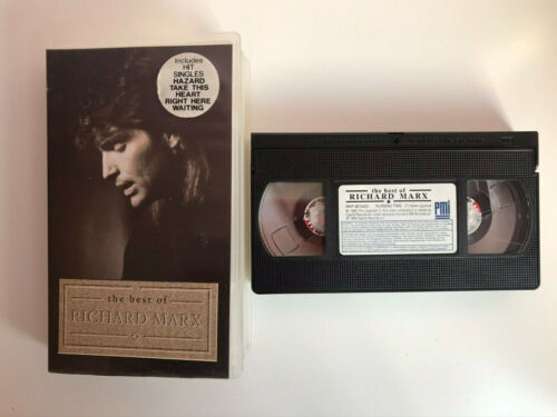 RICHARD MARX VHS TAPE THE BEST OF RICHARD MARX  HAZARD TAKE THIS HEART RIGHT HER