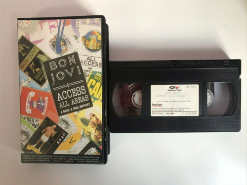 BON JOVI VHS TAPE ACCES ALL AREAS A ROCK & ROLL ODYSSEY
