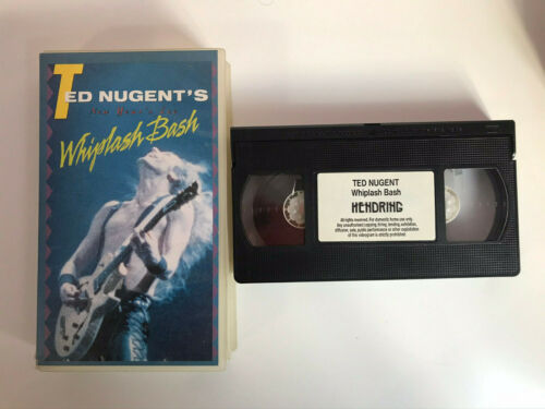 TED NUGENT'S VHS TAPE WHIPLASH BASH  HENDRING NEW YEAR'S EVE