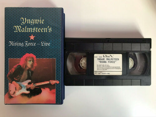 INGWIE MALMSTEEN'S VHS TAPE RISING FORCE LIVE UNICO Y MUY RARO