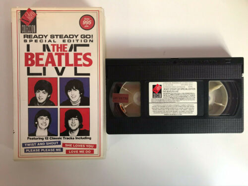 THE BEATLES VHS TAPE LIVE 1964 ALL YOU NEED IS LOVE ... 12 CLASSICS TRACKS