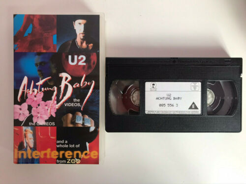 U2 VHS TAPE ACHTUNG BABY THE VIDEOS THE CAMEOS AND A WHOLE LOT OF