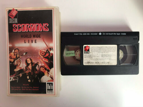 SCORPIONS VHS TAPE WORLD WIDE LIVE - BIG CITY STILL LOVING YOU ROCK YOU A HURRIC