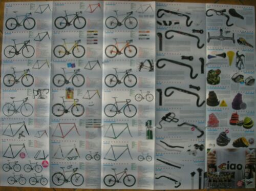 CINELLI BICICLETTE PRODUZIONE CATALOGO SALES BROCHURE BICYCLE ART BY STEVIE GEE