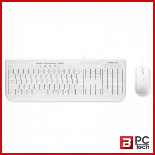 Microsoft Wired Desktop 600 Series USB Keyboard and Mouse Combo - White