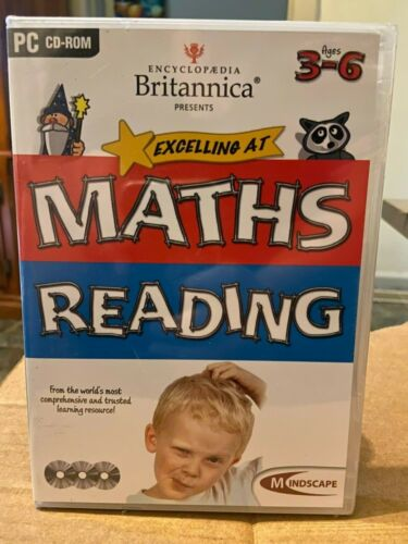 Encyclopedia Britannica Excelling at Maths Reading new sealed PC CD-ROM Age 3-6