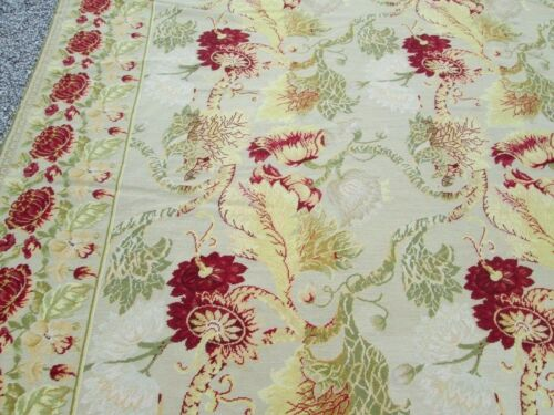 11' x 16'  EUROPEAN AUBUSSON STYLE CARPET LARGE SIZE INDIAN HILL,OH ESTATE RARE