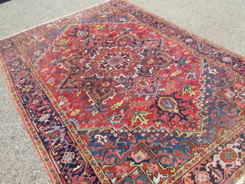 ANTIQUE HERIZ ORIENTAL RUG ESTATE FIND / 7 x 10 / CIRCA 1900 BEAUTY