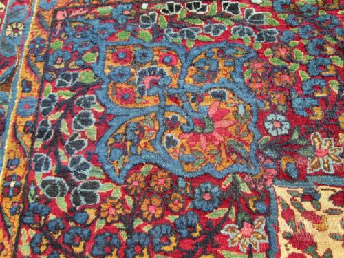 VERY EARLY ANTIQUE LAVER  ROOM SIZE RUG TREE OF PARADISE _9.2 x 11.5 RARE
