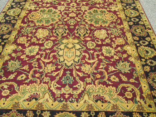 ORIENTAL RUG  AGRA PATTERN A FINE HAND WOVEN 8 x 10 NEVER USED RUG FULL PILE