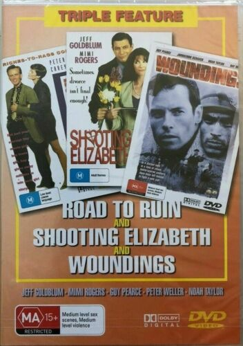 ROAD TO RUIN, SHOOTING ELIZABETH, WOUNDING : 3 DISC DVD PACK -BRAND NEW & SEALED
