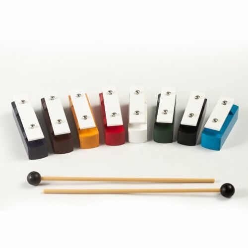 """Koda 8 Note Chime Bars, Two Beaters, 5"""" (13cm)"""