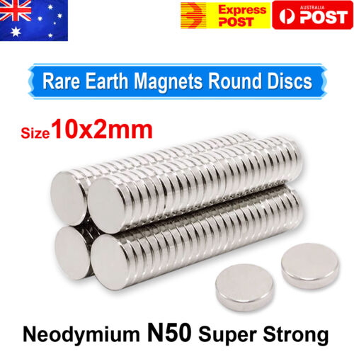 Rare Earth Strong Magnets Round Disc Cylinder Neodymium Magnet N50 10mm x 2mm