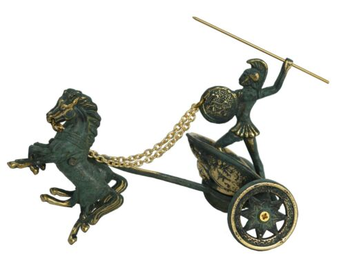 Achilles driving his chariot to battle - Homer iliad Trojan War Greek mythology