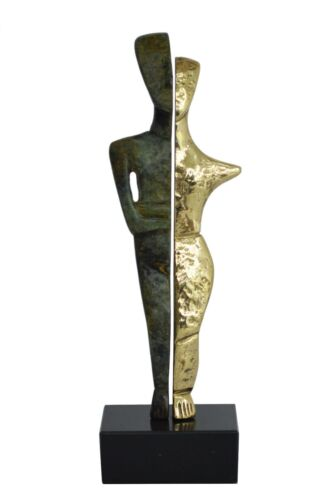Bronze Cycladic twin idol - Abstract Art - Simplicity - Aegean culture
