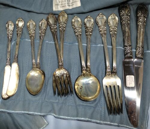 LUNT Sterling Silver Flatware Set for Two Servings American Victorian Pattern