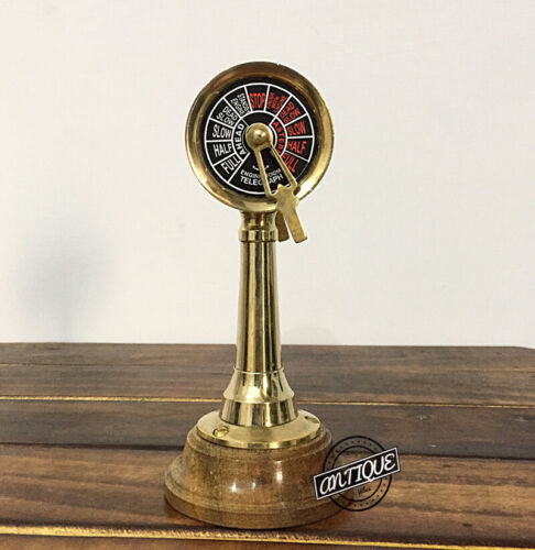Vintage Bell Sound Ringer Telegraph Nautical Maritime Boat Speed Controller