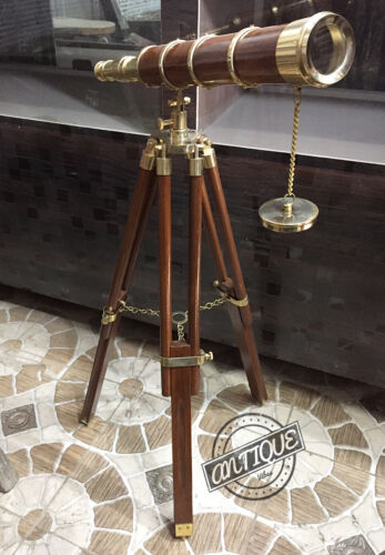 """Vintage Ultimate Marine 30""""Height Solid Telescope Tripod With Stand Office"""