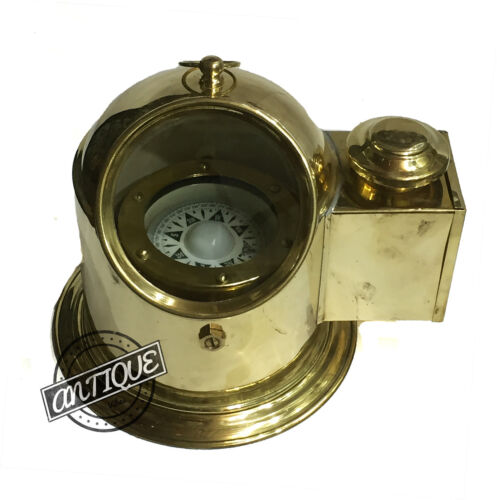 Vintage Marine Ship Deck Gimbals Binacle Compass Ocean Direction Home/Offic
