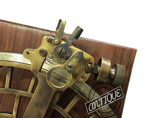 Vintage HEAVY SEXTANT MARINE NAVIGATION SEXTANT WORKING ASTROLABE SHIP WOOD