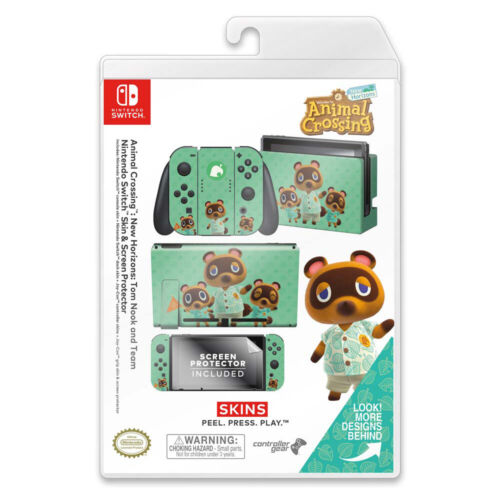 Controller Gear Animal Crossing Tom Nook Switch Skin & Screen Protector Set NEW