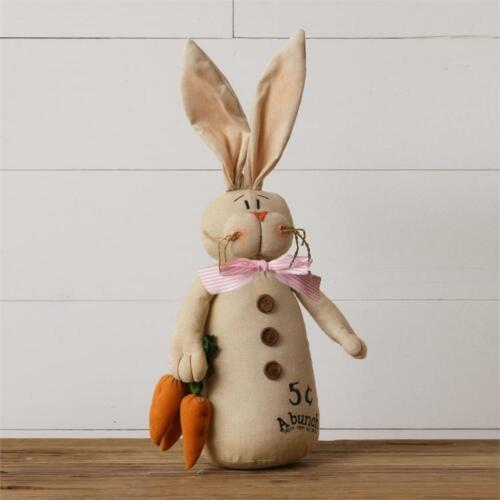 New Primitive Country Easter Bunny Rabbit Carrots Doll Figure 18""