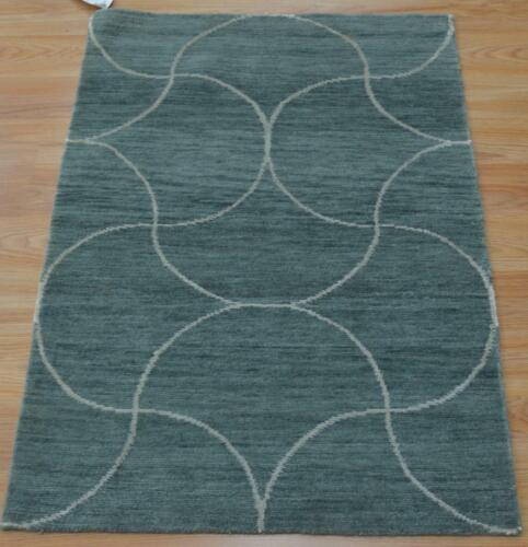 2 x 3 Contemporary Modern Design Hand Knotted 100% Pure Himalayan Wool Area Rug
