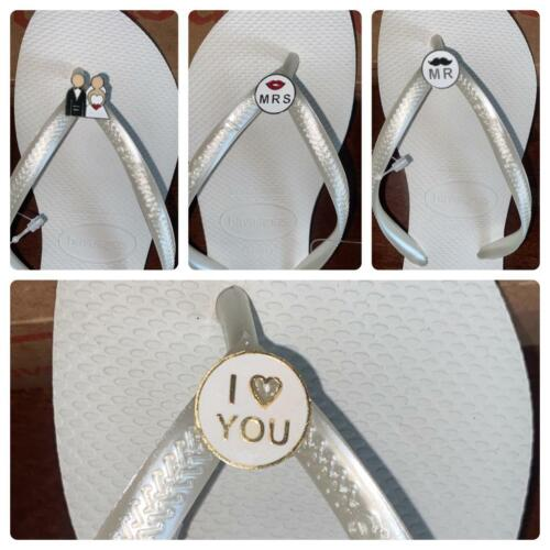 Original Havaianas Crystal / personalized charms WEDDING  VARIOUS COLORS <br/> NEXT  DAY delivery - Personalized wedding charms !