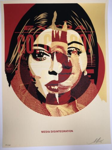 Shepard Fairey Media Target 2016 Signed OBEY Urban Art Print Poster