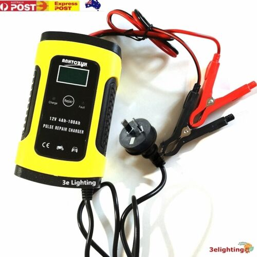 12V 6A Model 6 Stage Trickle Smart Charger Car Bike Boat lead acid Battery LCD