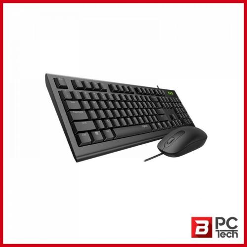 RAPOO X120pro - Wired Keyboard and Mouse Combo Optical Combo Black / 1600dpi / S