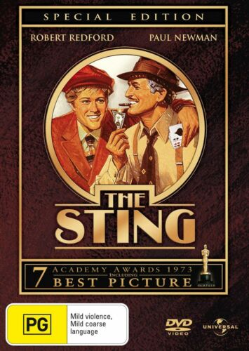 THE STING (1973 MOVIE - DVD SEALED + FREE POST)