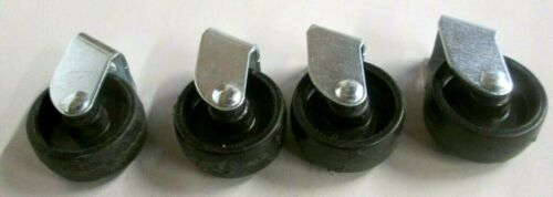 CHAIR / TABLE / DRESSER SET OF 4 HARD PLASTIC &  METAL REPLACEMENT CASTERS