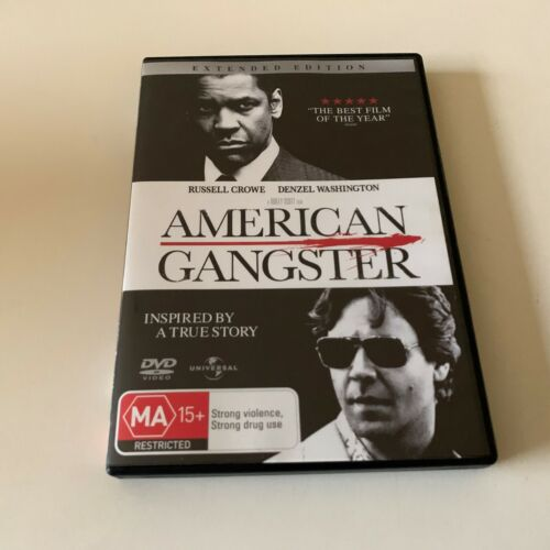 American Gangster - Extended Edition (DVD, 2008) Region 4