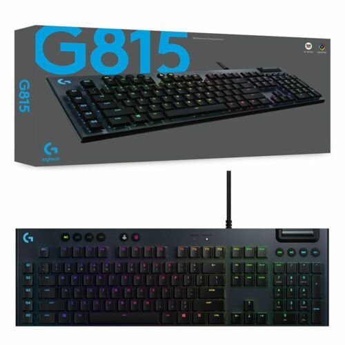 Logitech G815 Lightsync RGB GL Tactile Mechanical Gaming Keyboard NEW