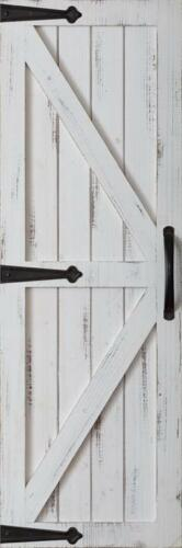 New Rustic Primitive Shabby Chic Farmhouse WHITE BARN DOOR SHUTTER Wall Hanging