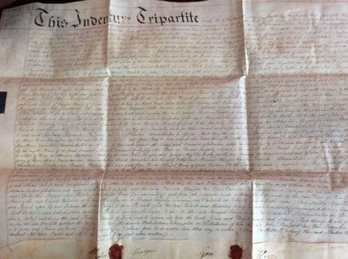 Antique Manuscript English Indenture 1783
