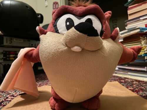 Tasmanian Devil (Taz) - Warner Brothers Plush Toy - From Looney Tunes cartoons.