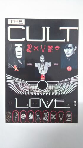 The Cult love vintage music postcard POST CARD group rock