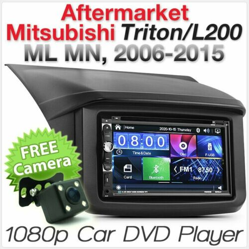 Car DVD USB MP3 Player Mitsubishi Triton ML MN Stereo Radio Fascia Facia ISO Kit