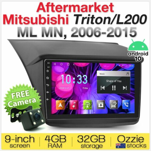 "9"" Android Car MP3 Player Mitsubishi Triton ML MN 2006-2015 Radio Stereo Facia A"