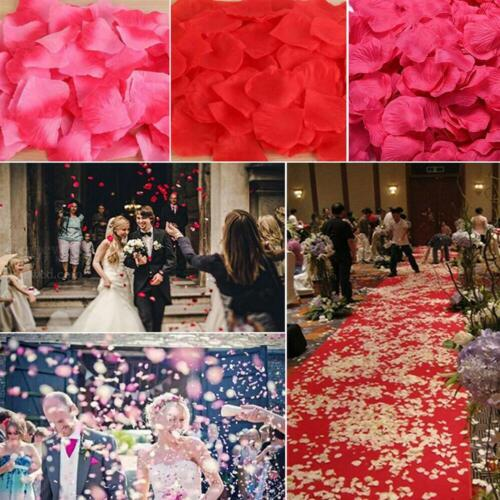 100pieces Artificial Rose Petals Silk Flower Party Accessories For Wedding I5j8