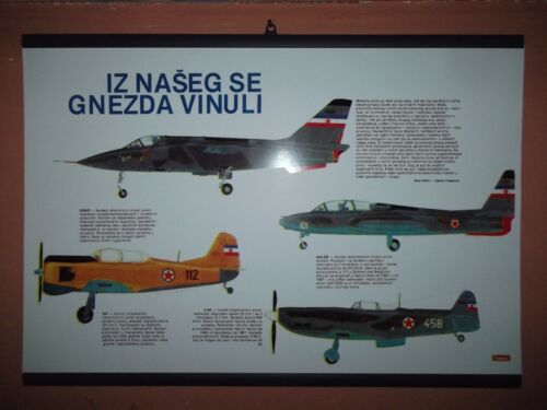 Yugoslavia JNA army planes poster Price Guides & Publications - 171192