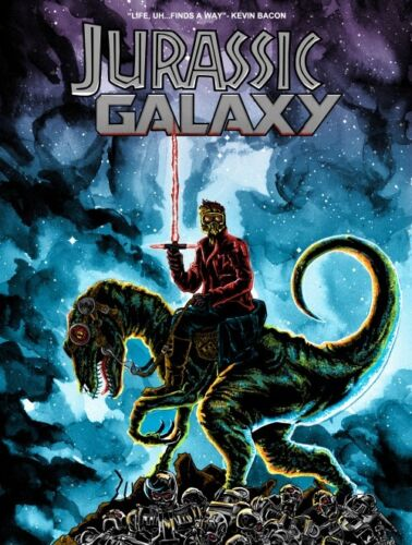 Tim Doyle Jurassic Galaxy Drunken Promises Print Signed #d /300 Poster Starlord