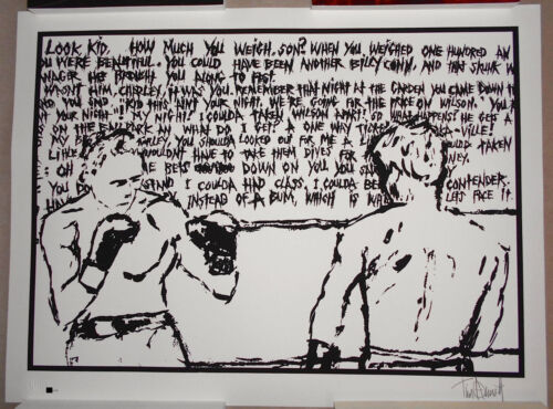Tim Armstrong Timebomb The Contender Signed Screen Print Poster #d Rancid Punk