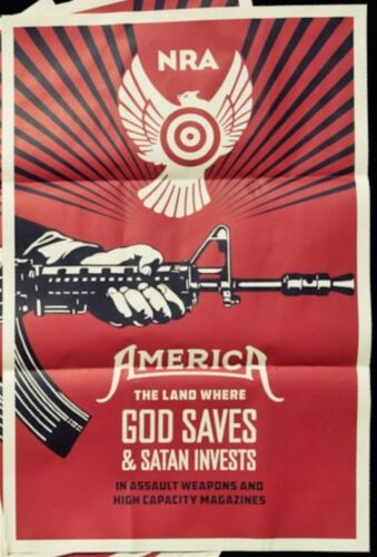 Shepard Fairey God Saves & Satan Invests Paster Print Poster Street Art Obey