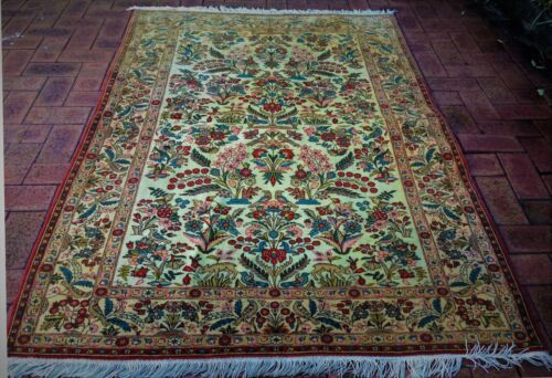 Authentic vintage Hand-Knotted GHOUM Rug (202 cm x 137 cm)