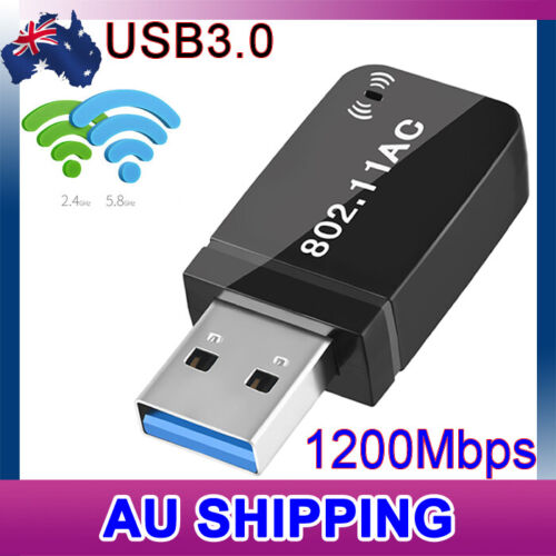 USB 3.0 AC1200  Dual Band WiFi Wireless Adapter 802.11ac Dongle PC Laptop 5GHz