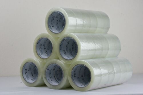 36x Clear Packing tape sticky Packaging Clear 75mx48mm <br/> Premium Quality, 48MIC, Clear (No bubbles)